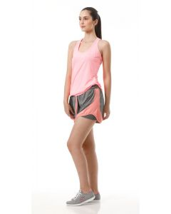 Short Feminino Esporte Dry Ironwear - Cinza e Rosa