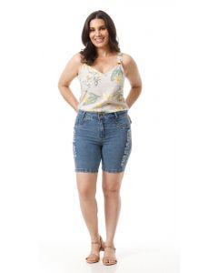 Bermuda Jeans Linda Bel - Azul