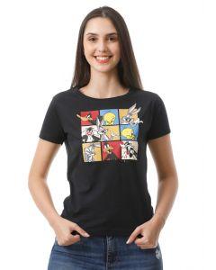 Camiseta Feminina Manga Curta Looney Tunes