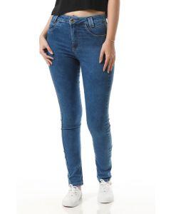 Calça Jeans Sawary Cigarrete Push Up - Azul