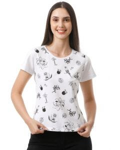 Blusa Feminina Estampada Basic Soul - Branco