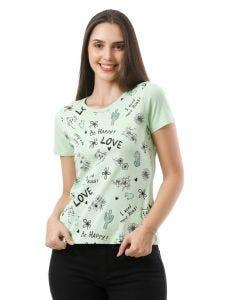 Blusa Feminina Estampada Basic Soul - Verde