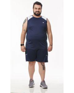 Bermuda Masculina Plus Size Recortes Ironwear
