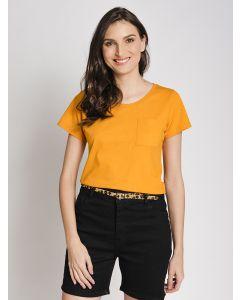 Camiseta Feminina Alongada - Amarelo