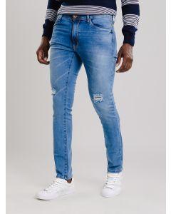 Calça Masculina Jeans Puídos - Azul