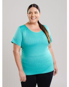 Camiseta Plus Size Poliamida - Verde