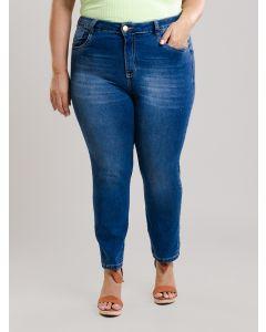 Calça Jeans Plus Size Feminina - Azul