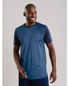 Camiseta Masculina Riscos - Azul