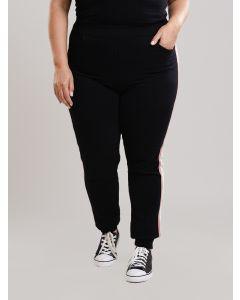 Calça Feminina Plus Size Moletom - Preto