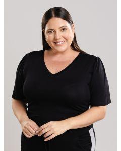Blusa Feminina Plus Size Critton - Preto