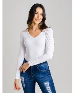 Blusa Feminina Manga Longa - Branco