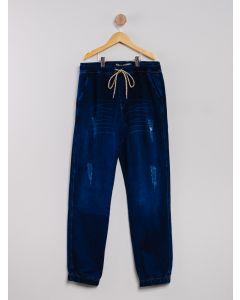 Calça Juvenil Jogger - Azul