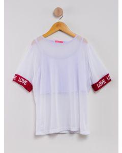 Blusa Infantil Tule - Branco