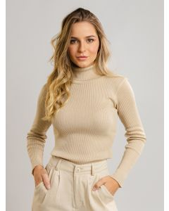Blusa Feminina Cacharrel Canelada - Bege