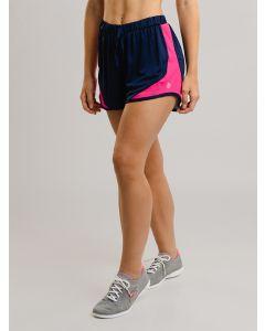 Short Feminino Esportivo Duplo Recortes - Azul