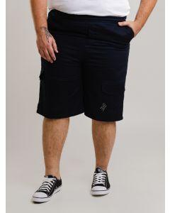 Bermuda Masculina Cós Elástico Plus Size - Azul Marinho