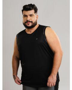 Regata Masculina Esporte Plus Size - Preto