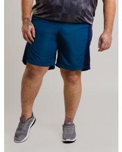 Bermuda Masculina Esportivo Recortes Plus Size - Azul