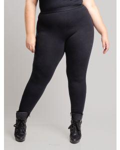 Calça Feminina Plus Size Malha - Preto