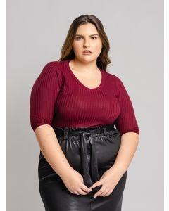 Blusa Feminina Plus Size - Vinho