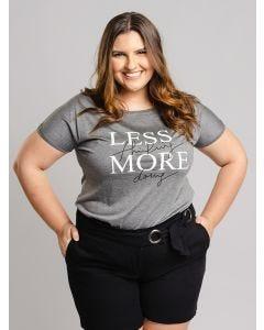 Blusa Feminina Plus Size Less - Cinza