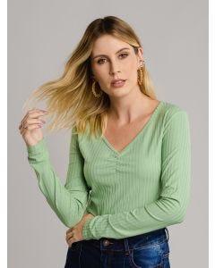 Blusa Feminina Canelada - Verde