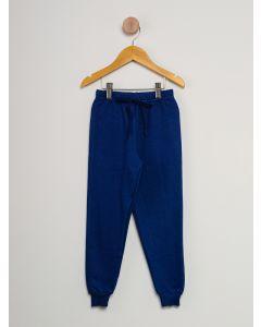 Calça Moletom Infantil Menino Cordão - Azul-Marinho
