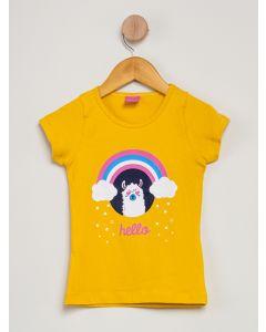 Blusa Infantil Estampada Arco-Íris - Amarelo