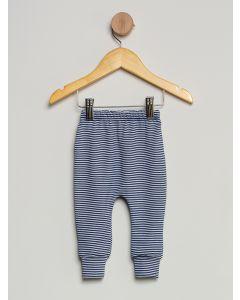 Culote Bebê Pé Reversível Listrado - Azul