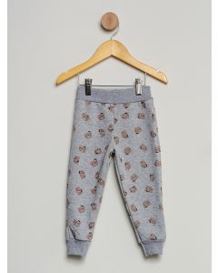 Calça Bebê Moletinho Ursinhos - Cinza