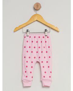 Culote Bebê Menina Reversível - Rosa