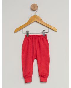Culote Bebê Pé Reversível Estampado - Vermelho