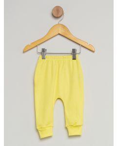 Culote Bebê Pé Reversível Estampado - Amarelo