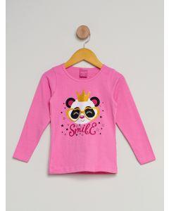 Blusa Infantil Menina Urso - Rosa