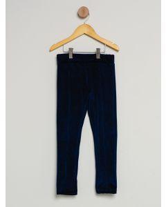 Calça Infantil Legging Veludo - Azul-Marinho