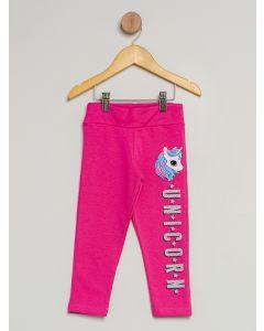 Calça Infantil Legging Unicórnio - Rosa
