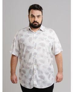 Camisa Masculina Plus Size - Branca
