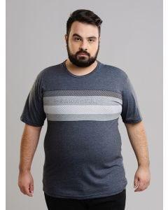 Camiseta Masculina Gangster Plus Size Estampa - Cinza