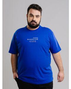 Camiseta Masculina Plus Size - Azul