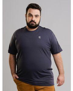 Camiseta Masculina Plus Size - Cinza