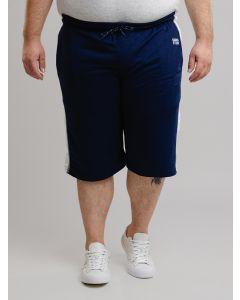 Bermuda Masculina GANGSTER Moletom Plus Size - Azul