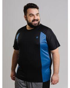 Camiseta Masculina Esporte Manga Curta Plus Size - Preto