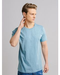 Camiseta Masculina Básica Gola Redonda - Azul
