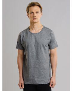 Camiseta Masculina Básica Gola Redonda - Cinza