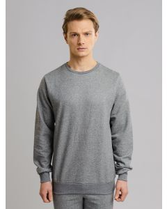 Blusa Masculina de Moletom - Cinza