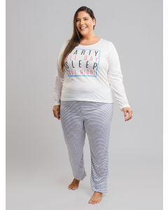 Pijama Party Sleep Plus Size - Branco