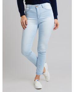 Calça Feminina Jeans Delave - Azul