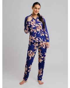 Pijama Feminino Estampa Floral - Azul