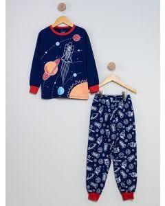 Pijama Infantil Cosmos - Azul