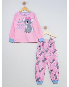 Pijama Infantil Coala - Rosa